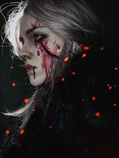 The Witcher Geralt, Witcher Art, Dark Fantasy Art, Dark Art, Character Inspiration, Character Art, The Witcher Game, Angry Girl, Arte Obscura