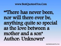 love of a son #son, #mom, mother-son, #quote