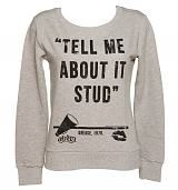 Ladies Grease Tell Me About It Stud Quote Pullover - I want ;)