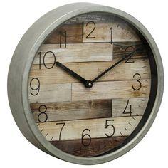 Rustic Wall Clocks, Wooden Clock, Garden Clocks, Plank Walls, Wood Glass, Rustic Charm, Wood Wall, Metal, Contemporary