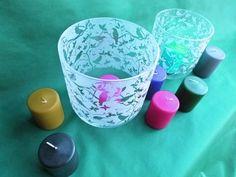 Windglas mit individuell gesandstrahltem Motiv...perfekt für einen gemütlichen Grillabend im Sommer