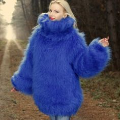 SuperTanya online boutique for hand knitted sweaters and other hand made knitwear crafted from mohair angora cashmere alpaca and other premium materials Thick Sweaters, Hand Knitted Sweaters, Cardigan Sweaters For Women, Long Cardigan, Fluffy Sweater, Angora Sweater, Gros Pull Mohair, Turtleneck Outfit, Mini Robes
