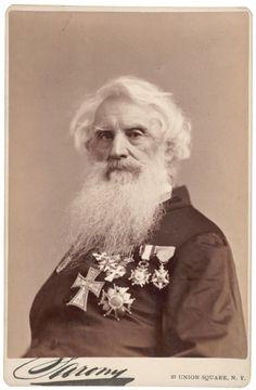 "Napoleon Sarony, ""Samuel F. B. Morse"", ca. 1882, Albumen cabinet card."