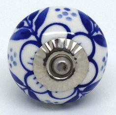 Navy Twilight Stem - one of our original cupboard doorknob designs at www.theseplease.co.uk