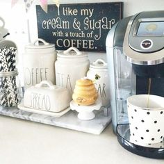 Kitchen coffee area ideas (simple coffee bar set up ideas for small kitchens)