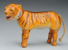 Carved Wood Tiger from the Humpty Dumpty Circus