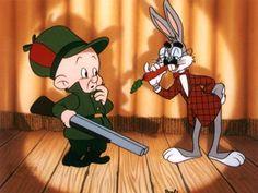 Elmer Fudd and Bugs Bunny