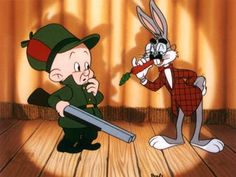 Elmer Fudd and Bugs Bunny