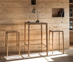 Surf SS #Stool #Oak - #design Edi & Paolo Ciani @cizetasedie @products4people