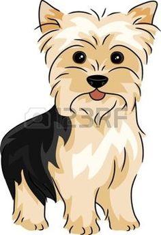 13898761-ilustraci-n-que-ofrece-un-yorkshire-terrier.jpg (240×350)
