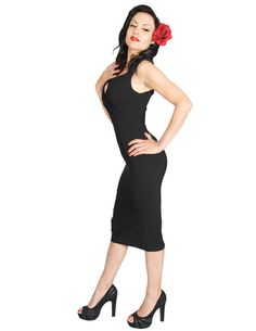 Steady Clothing Rockabilly Black Pin-up Diva Dress