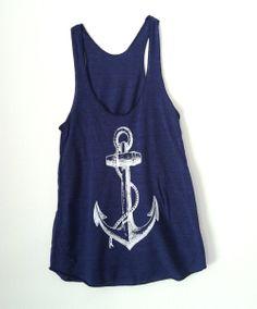Anchor Tank Top  Nautical Sailor American Apparel by friendlyoak, $18.00