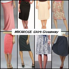 MIKAROSE Skirt Giveaway! 1. Repin this image 2. Comment here on this PINwhat your favorite Skirt from MIKAROSE is. Ends Friday 9 AM MST. Winner will be announced via the Blog! Winner will receive ANY Skirt of their choice :)