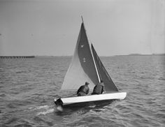 Snipe class boat, launched at South Boston Yacht Club Leslie Jones, 18 March 1933