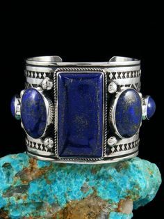 Turquoise Jewelry Necklace Native American Indian Jewelry Sterling Silver Natural Lapis Bracelet - Born in 1959 in Zuni, New Mexico, Albert has been creating traditional silver jewelry since He is also a talented potter and sand painter. This incredi. Dainty Jewelry, I Love Jewelry, Bridal Jewelry, Sterling Silver Jewelry, Antique Jewelry, Vintage Jewelry, Fine Jewelry, Silver Ring, Silver Earrings