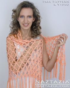 Learn How To Crochet Flower of Life Geometric Pattern Chain Shawl - Free Pattern with YouTube Help Video by Naztazia