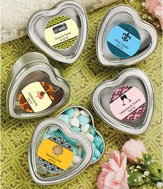 Personalized Heart Mint Tins - DIY Favors