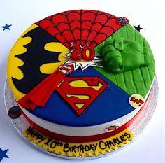 Superhero Cake | Trend Alert: Kids' Cake Themes by Cakest | Black Twine #cake #partycake #superherocake #kidscake #birthdaycakes Avengers Birthday Cakes, 6th Birthday Cakes, Superhero Birthday Cake, 4th Birthday, Pastel Avengers, Avenger Cake, Themed Cakes, Cupcake Cakes, Cupcakes