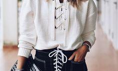 Streetstyle : 10 τρόποι να φορέσεις το λευκό πουλόβερ