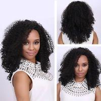 Medium Black Afro Curly Fashion Medium Synthetic Hair Wig For Women