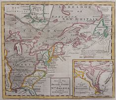 Old Maps, Antique Maps, The Five Orange Pips, Michael Jennings, Treaty Of Paris, North America Map, Seven Years' War, Hand Coloring, Continents