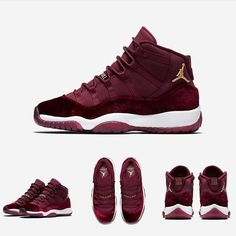 "SHOP: Nike Air Jordan 11 Retro GG ""Red Velvet""  sizes up to 9.5Y or women's 11  kickbackzny.com"