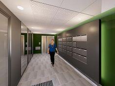Images 3D Hall d entée immeuble par MISSIRE Architecte d Interieur