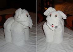 Towel Sculpture Towel Sculpture Towel Sculpture and Elephant Sculpture made of sheets, towels, and p. Towel Animals, Cute Animals, Elephant Towel, Towel Origami, How To Fold Towels, Elephant Sculpture, Decorative Towels, Napkin Folding, Family Kids