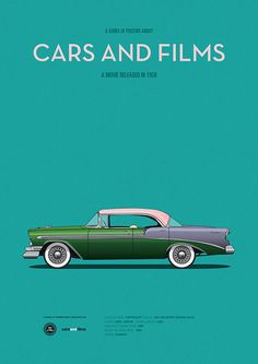 Poster of the car from Mon Oncle. Illustration Jesús Prudencio. Cars And Films