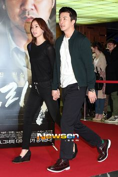Kwon Sang Woo and Son Tae Young attend the 'Norigae' VIP screening event together Korean Drama Movies, Korean Dramas, Korean Actors, Korean Wave, Korean Star, Kwon Sang Woo, Almost Love, Yong Pal, Sad Love Stories