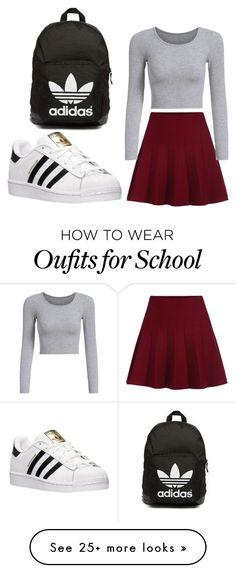 """school"" by ebazete on Polyvore featuring adidas and adidas Originals"