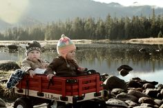 How cute are these little babies in this L.L.Bean wagon?  (Photo from an L.L.Bean Facebook fan in Alaska.)