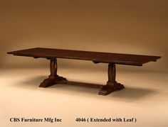 CBS 4046 Dining Table with extensions available - TJ Hooker Inc.