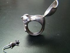 vintage sterling 'poison ring'