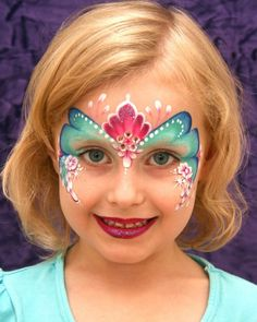 Face Painting prinses one stroke / schmink. gepind door www.hierishetfeest.com