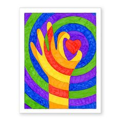 Warm Hands with a Heart · Art Projects for Kids. This color lesson project is a study in warm, cool and complementary colors in a fun format. Hand Art Kids, Art For Kids, Fun Arts And Crafts, Quick Crafts, Fall Crafts, Ecole Art, Easy Art Projects, Simple Art, Art Activities