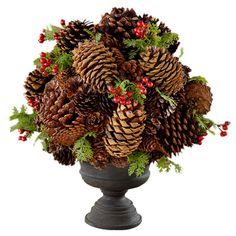 Found it at Wayfair - Appalachian Lodge Natural Pinecone Arrangement Christmas 2014, Rustic Christmas, Winter Christmas, Christmas Wreaths, Christmas Ideas, Holiday Crafts, Holiday Fun, Holiday Decor, Festive