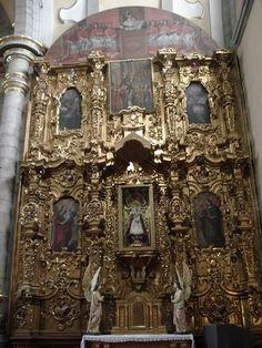 Retablo de Ntra. Sra. de la Covandonga, Templo del Convento de Sto. Domingo, Cdad. de Puebla, Pue.