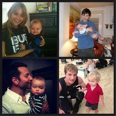 Nicholas Hoult, Josh Hucherson, Bradley Cooper with Jen's nephew. gosh, i envy that kid hahahaha.