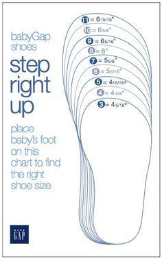 Printable Shoe Measurement Chart | Baby shoe sizes