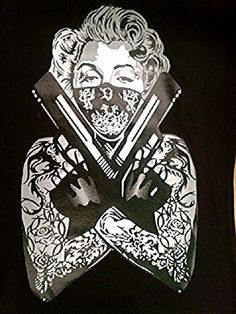 Hey, I found this really awesome Etsy listing at http://www.etsy.com/listing/175918136/marilyn-monroe-tattoo-bandit-two-guns