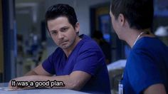 #NightShift GIF Meanwhile, Topher is in a mess of his own, as he accidentally starts receiving his daughter's texts and discovers she's been sexting some guy. He wants to confront her immediately, but Ragosa convinces him to hold off and spy on her instead. Topher stupidly takes his advice, only to have it blow up in his face when his daughter reveals she knew he was reading her texts the whole time.Lesson learned: Never take advice from Ragosa