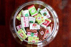 Calendrier de l'avent DIY : des boîtes d'allumettes colorées à piocher