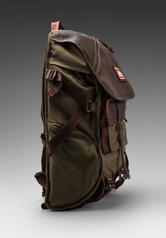 JANSPORT Skip Yowell Collection Pleasanton Backpack in Army Green - Accessories