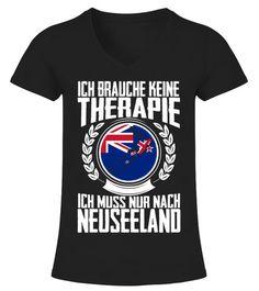 Reise Therapie brauche ich nicht Damen T-Shirt muss nur nach New York