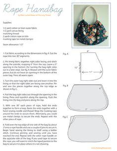 DIY Un sac simple et efficace. (Rope Handbag « thelongthread.com) (http://thelongthread.com/?p=8116)