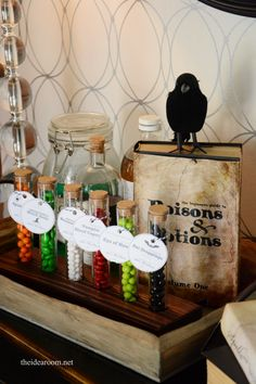 Free Printable Halloween Potion Ingredient Tags for your Halloween Decor or Halloween Treats | theidearoom.net