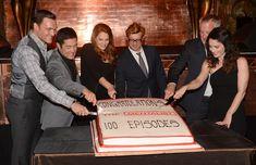 "Robin Tunney Simon Baker Photos: CBS Celebrates 100 Episodes Of ""The Mentalist"" - Inside"