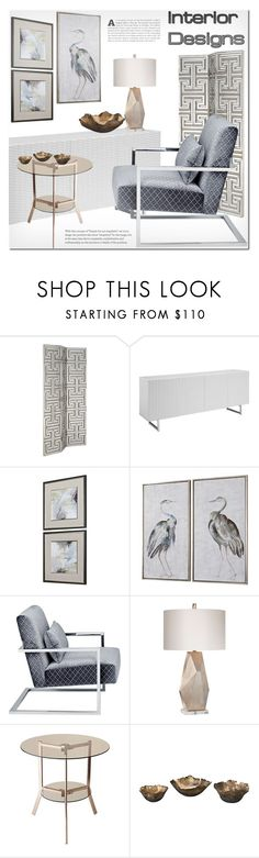 """""""Untitled #3797"""" by ansev ❤ liked on Polyvore featuring interior, interiors, interior design, home, home decor, interior decorating, Pacific Coast and Jamie Young"""