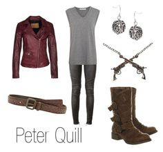 """""""Peter Quill"""" by ja-vy ❤ liked on Polyvore featuring Balmain, Blowfish, T By Alexander Wang, Bottega Veneta, Goosecraft, Roman, women's clothing, women, female and woman"""